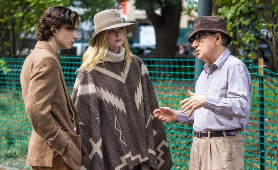 Woody Allen dirige a los actores de «A Rainy Day in New Yok»