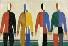 Kazimir Malévich Deportistas, 1930-1931 Óleo sobre lienzo, 142 × 164 cm Museo Estatal Ruso, San Petersburgo