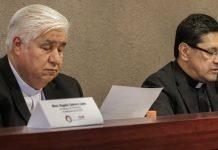 Rogelio Cabrera (izq) y Alfonso G.Miranda en la presentación del informe