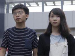 Joshua Wong y Agnes Chow
