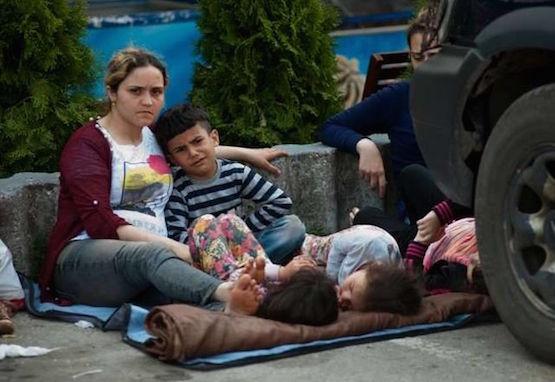 Refugiados sirios en Macedonia (Serbia). Foto: Acnur