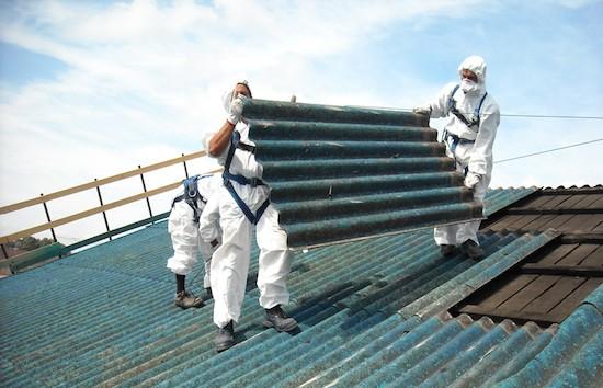Contaminación por amianto