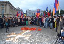 Armenios de Bucarest participan en un acto en recuerdo del genocidio