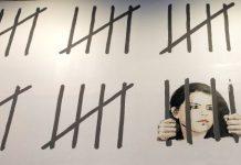 Detalle del mural por la libertad de Zehra Dogan pintado por Bansky en NY