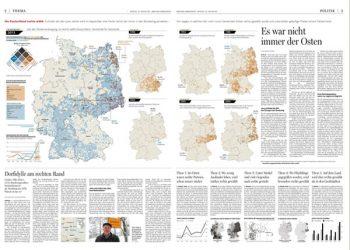 Doble página con infografía del Berliner Morgenpost.