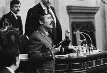 """(C) Manuel López. Mi foto de Tejero. Madrid, Congreso de los Diputados, 23 de febrero de 1981. De la exposición """"Manuel López 1966-2006"""""""