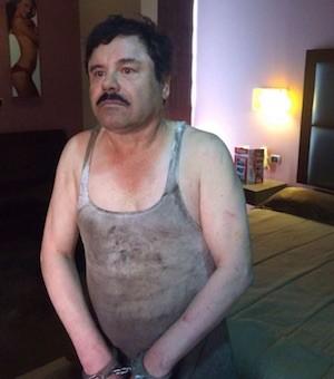 """Imagen """"oficial"""" de la tercera detención de El Chapo"""