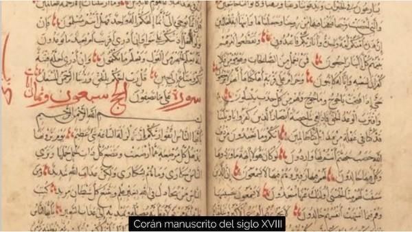 Corán manuscrito siglo XVIII