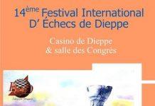 Cartel del 14 Festival Internacional de Ajedrez de Dieppe