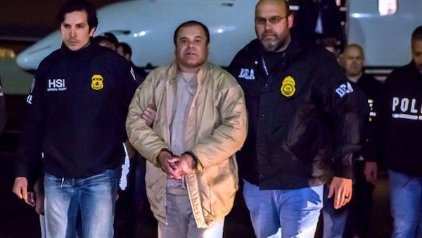 El Chapo Guzmán aterriza en EE. UU.