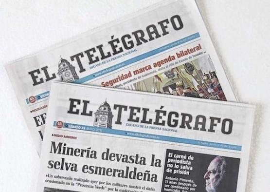 Portadas de El Telégrafo de Ecuador