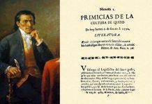 Eugenio Espejo lannzó el primer ejemplar de Primicias de la cultura de Quito en 1792. Foto: Archivo Andes