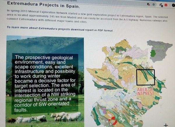 Extremadura web minera