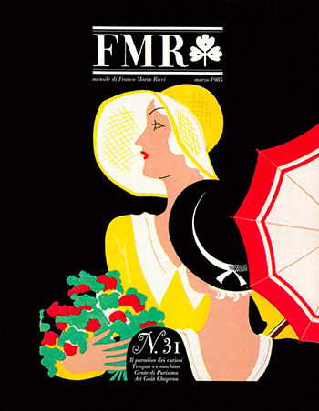 Portada y cabecera de FMR (Franco Maria Ricci, editor)
