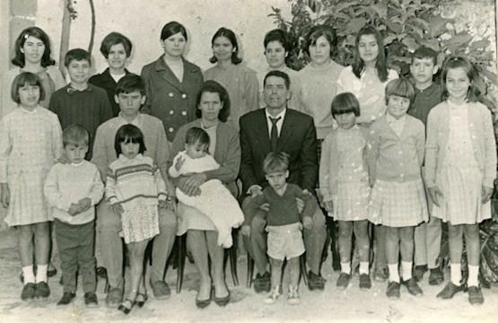 Familia Ojeda Artiles, Premio Nacional de Natalidad de 1969. Foto: Ministerio de Empleo España
