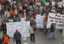 Protestas campesinas en Guatemala