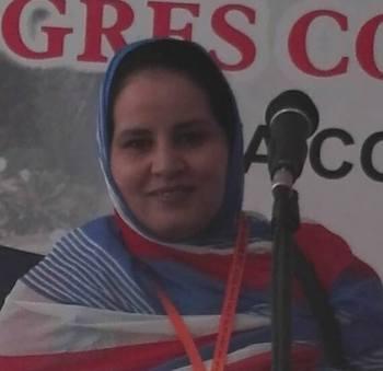 La presidenta del ajedrez saharaui, Hasina Selma Mohamed.