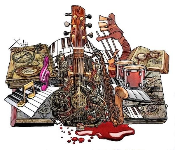 Instrumentos musicales por Xulio Formoso