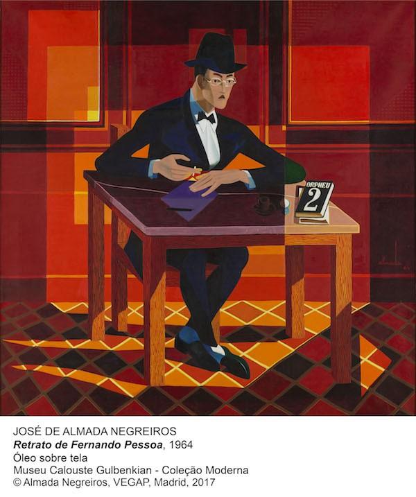 JOSE DE ALMADA Retrato de Pessoa