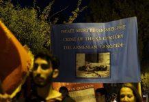 Protestas en Jerusalén solicitando que se reconozca el genocidio armenio.