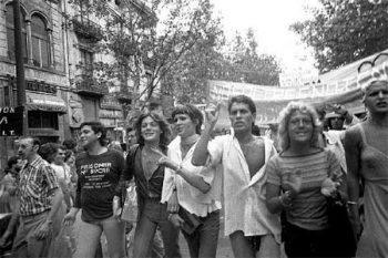 Manifestación por los derechos LGTBI. 1977, Barcelona