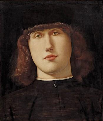 Retrato de joven Lorenzo Lotto. Óleo sobre tabla, 34,2 x 27,9 cm h. 1498 – 1500. Bérgamo, Accademia Carrara – Pinacoteca di Arte Antica