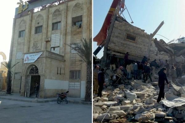 MSF: hospital de Maarat al Numan, en Idlib, Siria, antes y después del ataque.