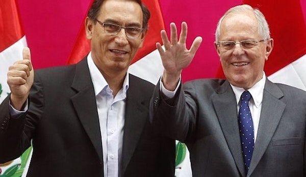 Martín Vizcarra y Pedro Pablo Kuczynski en la campaña electoral