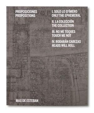 Portada de Proposiciones, de Max de Esteban, editado por La Fábrica