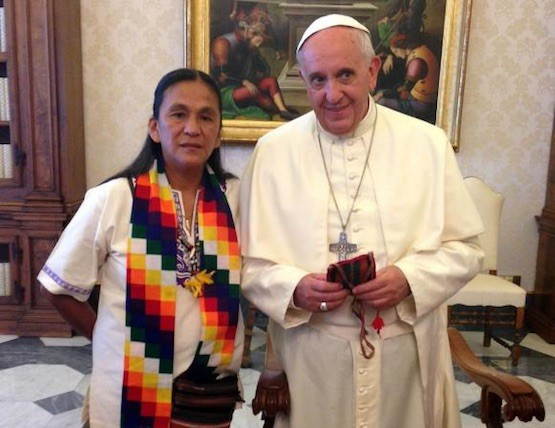 Milagro Sala, Papa Francisco