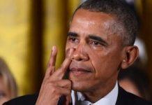 El presidente Barack Obama llora al recordar las personas que han muerto por tiroteos en EEUU. Foto: ANDES/AFP