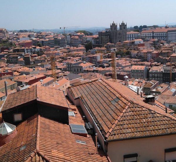 Vista general de Oporto, septiembre de 2018