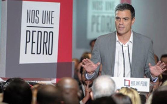 """Pedro Sánchez en el acto """"Pedro nos une"""" para presentar el programa electoral del PSOE para el 20D"""