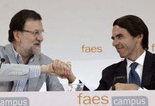 Mariano Rajoy y José María Aznar en una reunión en FAES