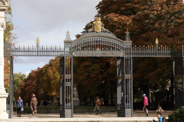 Parque del Retiro, Madrid. Puerta de Alfonso XII