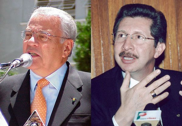 Gonzalo Sánchez de Lozada y su exministro de Defensa, Carlos Sánchez Berzaín