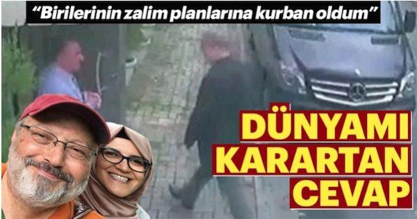 Portada del diario turco Sabah en la que se publica la entrevista con Hatice Cengiz, la prometida de Jamal Khashoggi