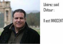 Campaña pidiendo la liberación del periodista argelino Said Chitour.