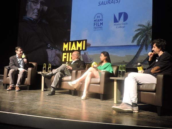 Los Saura con Felix Viscarett, en el Festival de Cine de Miami 2018