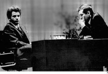 Spassky y Fischer en el mundial de 1972