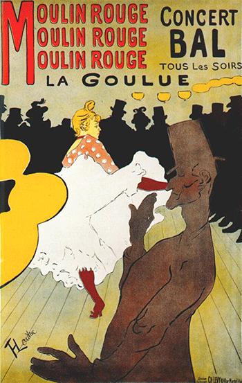 Toulouse Lautrec: La Goulue en el Moulin Rouge