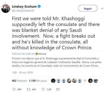 Tuit Graham Khashoggi muerto