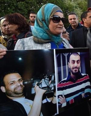 Protestas en Túnez por el secuestro de Sofiène Chourabi y Nadhir Ktari