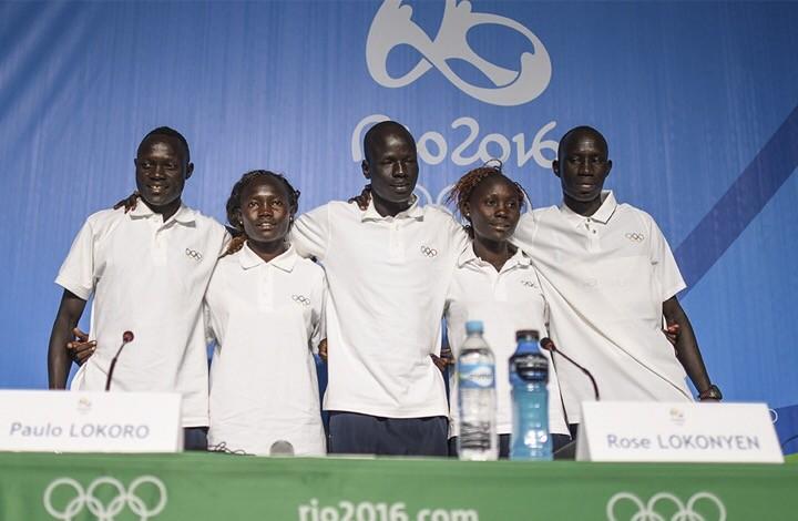 Miembros del equipo olímpico de los refugiados en Río de Janeiro