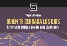 Virginia Mendoza, portada de quién te cerrara los ojos