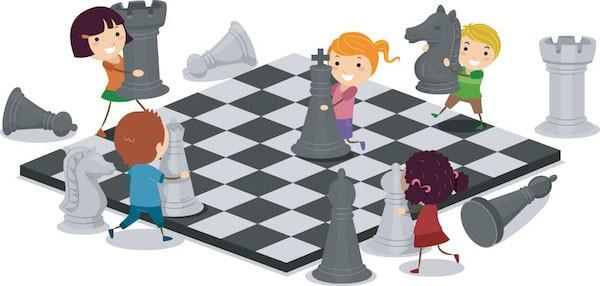 Imagen incentivadora del ajedrez para niñas.