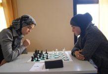 Dos jugadoras marroquíes en un pasado torneo en Uchda