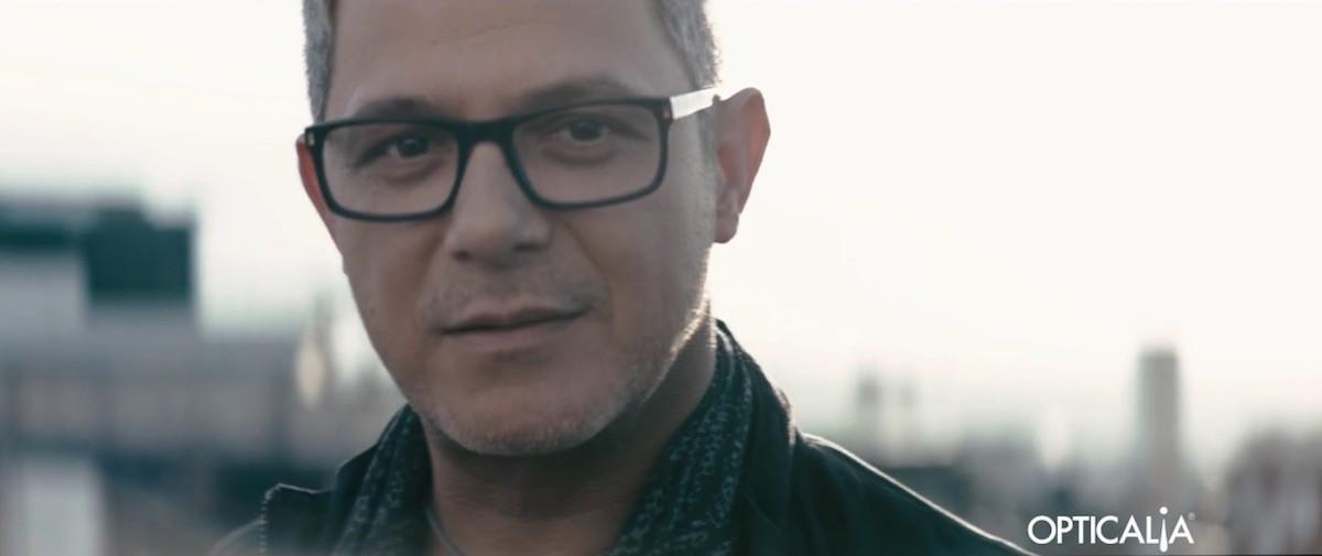 Alejandro Sanz en la campaña de Opticalía
