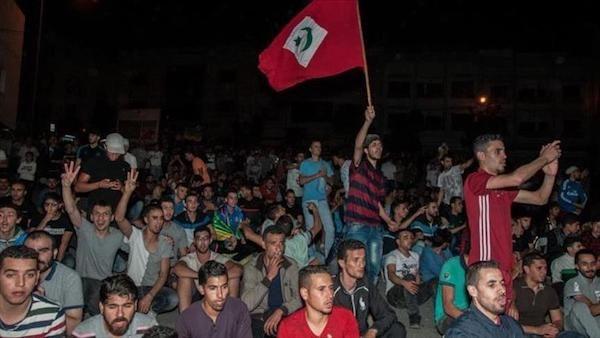 Manifestación en Alhucemas.