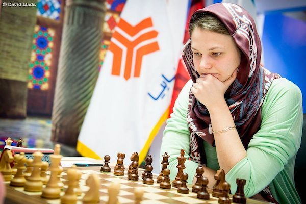 La subcampeona mundial, la ucraniana, Anna Muzychuk. Foto David Llada
